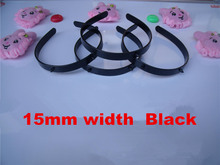Wholesale 50pcs/lot DIY 15mm plastic headband with horn holder white black DIY Craft tools Jewelry Hair Accessories DIY878