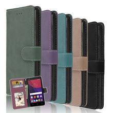 Mobile Phone Bag For Microsoft Nokia Lumia 640 flip Case Luxury PU Leather Wallet Cell Phone Case Cover Frosted Back Card Holder(China)