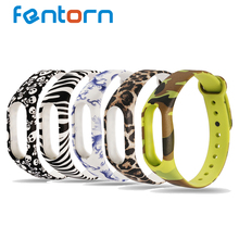 For Xiaomi mi band 2 strap Belt Replacement band For miband 2 Wristband Bracelet Zebra stripes / camouflage / Human skeleton(China)