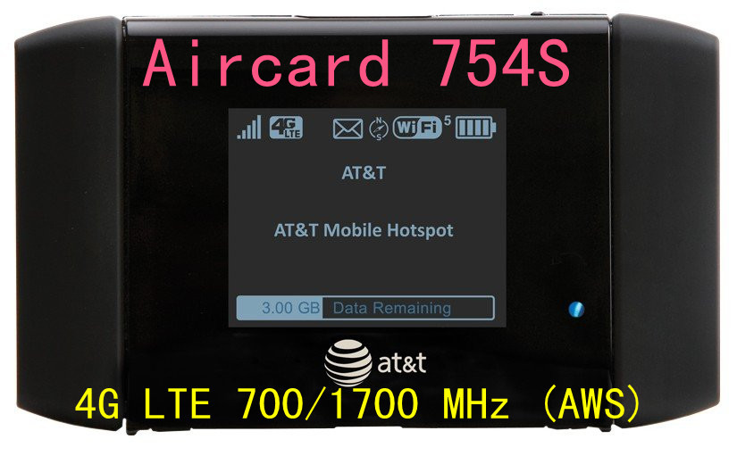 unlocked AT&T Sierra Aircard 754S wifi Mobile Hotspot 4g lte MiFi router 3g 4G lte wifi dongle pk AirCard 760S 762s 753s y800(China (Mainland))
