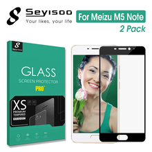 2 Pack 100% Original Seyisoo 2.5D 9H Full Cover Tempered Glass Screen Protector Meizu M5 Note 5 Note5 Meilan M5note Film