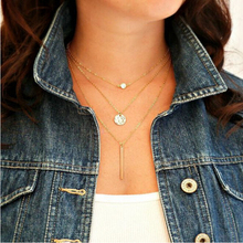 2015 New !!! Fashion Jewelry Wholesale Metal Multilayer Gold Rhinestones Individuality Necklaces & Pendants For Women N-69
