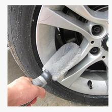 New Arrival Car Wheel Cleaning Brush Tool Tire Washing Clean Type Alloy Soft Bristle Cleaner mr10(China)