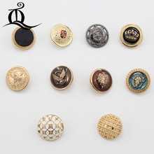 Hot sale 5pcs/lot 20-22mm new fashion decorative buttons high quality gold buttons for men shirt suit overcot sewing accessories