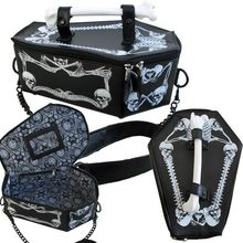 Steampunk Gothic Vampire Bone Coffin Bag skull skeleton women's chain crossbody box bags tote bat harajuku cosplay handbag