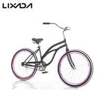 "Lixada 26"" Speed Wide Tire Sport Bicycle, Fat Mountain Bike, Snow Bike Beach Bike, MTB Beach Cruiser Bike, Carbon Steel Frame(China)"
