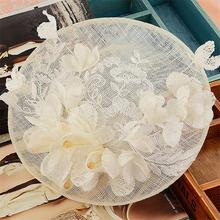 Sinamay Disc Lace Fascinator Clip Hat With Silk Flowers Bridal Headpiece Wedding Hats And Fascinators Hair Accessories WIGO0713