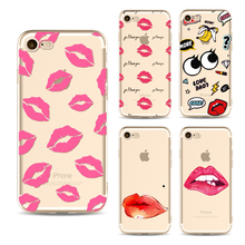 Buy Soft Ultra phone Cases Iphone 6 6s 6Plus 7 7s 7plus TPU Sexy Red Lip phone cases Seductive mouth Cover case shell fundas for $1.00 in AliExpress store