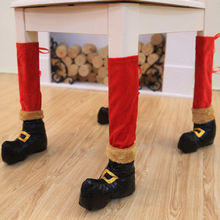 Lovely Christmas Chair Leg Cover Socks Xmas Party Table Foot Socks Stocking Ipcs(China)