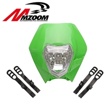 FREE SHIPPING MZOOM Motorcycle Dirt Bike Motocross Supermoto Universal Headlight Fairing KTM SX EXC