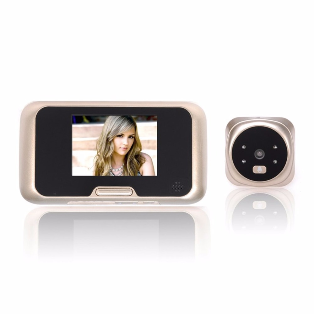 3.0 inch TFT LCD Digital Wireless Doorbell Zoom Camera Peephole Viewer 160 Degrees Wide View Night Vision Doorbell QR-09<br>