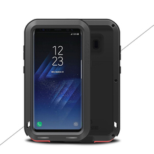 For galaxy S8 /S8plus Powerful anti-knock case, Original LOVE MEI Extreme life snowproof Dropproof Metal cover for Samsung s8(China)