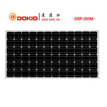 Dokio Brand Panel Solar 200W Monocrystalline Silicon Solar Panel China 36V 1580x808x30MM Size Solar Battery China #DSP-200M