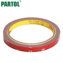 Partol 3M x 6mm 8mm 10mm 20mm Double-sided Adhesive Tape Extremely Strong Grey Car Sticker for Ford Toyota Honda VW BMW SUV(China)
