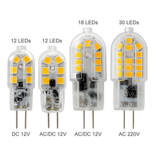 3W 4W 5W 12V DC AC 220V G4 LED Bulb SMD 2835 12 18 30LEDs mini g4 led light Replace 20w 30w 40w Halogen Chandelier Lamp(China)