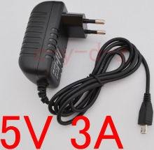 1PCS 5V 3000mA 3A Mains Micro USB AC-DC Adaptor Power Supply Charger 4 Raspberry PI 2 EU plug Free shipping