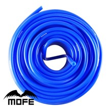 MOFE Blue Color Racing car auto 10M 4mm Silicone Vacuum Tube Hose Silicon Tubing pipe(China)