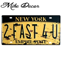 [ Mike86 ] New York Empire State License Plates Vintage bar decoration Metal signs D-73 Mix order 30*15 CM