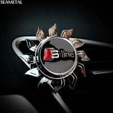Car Perfume Air Freshener Auto Sline Logo Clip Seat Rotating Without Aroma For Audi A3 A4 A5 A6 A7 Q3 Q5 Q7 S3 S4 Car Styling