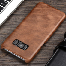 KEYSION Luxury Retro Cowhide Case For Samsung S8 S8 Plus Genuine Cow Leather Phone cover for Samsung S8 S8Plus G950 G955 Case(China)
