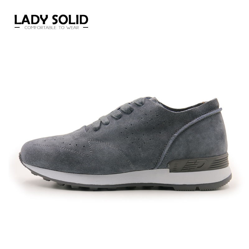 2018 Spring Autumn Woman Shoes Lace Up Retro Gray Suede Leather Ladies Casual Flats 35-40 Fashion Shoes Women #189-1<br>