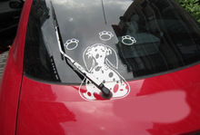 Car Decoration Dog Moving Tail Window Wiper Sticker Rear Windshield Stickers And Decals For Chevrolet Cruze Ford Focus VW(China)