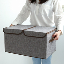 New Clothes Wrapped storage box  Japanese cotton poly double cover storage box simple grid storage box  sundry clothes