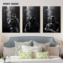 Home Decor Canvas Poster rainbow six siege Painting Living Room Wall Art Modern 5 Piece Oil Painting Picture Panel Print B-049(China)