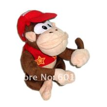 "Free Shipping EMS 100/Lot Super Mario Diddy Kong 6.5"" Plush Doll Soft Toy Wholesale"