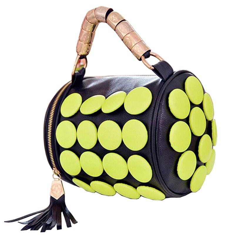 Handbag Mini Women Bag Tassel Bucket Tote Button Women Messenger Bags  Bolsa Feminina  Women Leather Handbags<br><br>Aliexpress