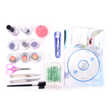 New Arrival 1Set Professional False Eyelash lash Extensions Kit with Case Waterproof Odorless High Quality Wholesale(China)