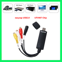 USB 2.0 Easycap Audio New Video DVD VHS Record Capture Card Converter PC Adapter with Audio Real UTV007 Chip 1080P Car Camera