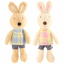 JESONN Stuffed Toys Animals Dressed Plush Easter Bunnies Rabbits for Children's Gifts(China)