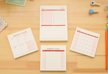 Desktop schedule memo pad moth weekly check list sticky notes planner pocket notebook  Scratch Pad office school supply