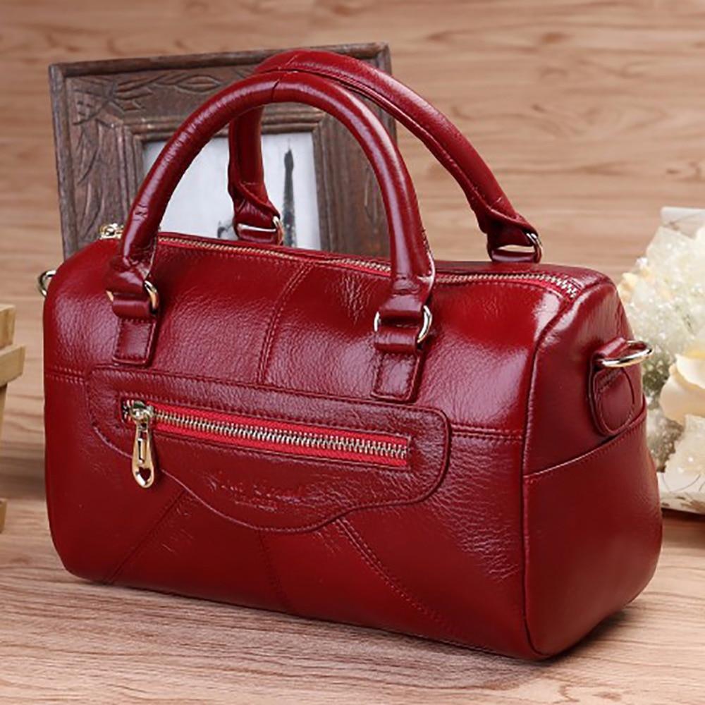 Genuine Leather Women Fashion Messenger Sling Shoulder Bag Designer Cross Body Satchel Ladies Casual Tote Bag Cowhide Handbag<br><br>Aliexpress