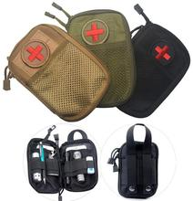EDC Survival Waterproof Nylon Tactical Molle System Waist Bag Travel Medical Military First Aid Kit Sling Pouch Durable(China)