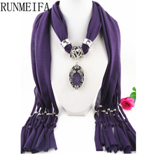 [RUNMEIFA] 2017 new design fashion jewelry crochet scarf with beads The outer edge of the jewellery is drillled(China)