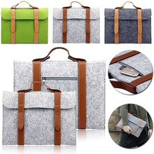 Felt Bag 10 11 13 15 inch Universal Notebook Computer Laptop Sleeve Bag Case for Macbook Air Pro Retina HandBag Men Women