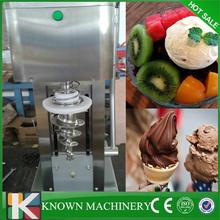 Stainless steel compressor kinds of fruts mixing soft hard ice cream mixer making machine(China)