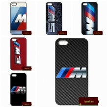 For silm BMW M Series M3 M5 logo Phone Cases Cover For iPhone 4 4S 5 5S 5C SE 6 6S 7 Plus 4.7 5.5 AM0642(China)