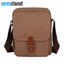ARESLAND Men's Vertical Type Canvas Cross Body Bag Flip Over ipad Bag Messenger Shoulder Bag(China)