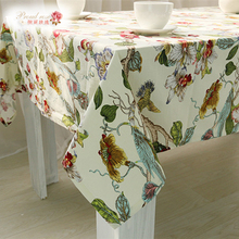 1 Piece Creative All Cotton Printed Table Cloth/ Rural Adornment Tablecloth/ High Quality Tea Table Cloth Free Shipping