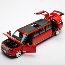 EXTENDED LAND ROVER ALLOY MODEL Good quality Size 22CM length  Die Cast Toys Car No box packing With Light and Music