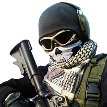 Hot Halloween Punk Skull Mask Bandana Snood  Helmet Face   Headband Wind Hood Balaclava Neck Tube Snood Scarf W1