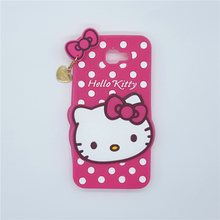 New 3D Cartoon Hello Kitty Case Soft Silicon Back Cover For Samsung Galaxy 2016 J5 Prime On5 & J7 Prime On7 Rubber Phone Shell
