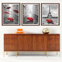Paris Red Umbrella,Diamond Embroidery Still Life,Cross-stitch Kits Sale,5D Diamond Mosaic Pattern,diy Diamond Painting Partial.B