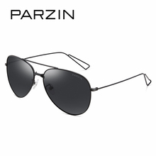 PARZIN Brand Vintage Black Men Aviator Sunglasses Quality HD Polarized Glasses For Driver Anti-Glare Sun Glasses With Logo Box
