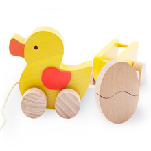 Baby wooden toys pulling duck Toddler Toy Car Baby Pull String Toys early educational Learning toys Gifts