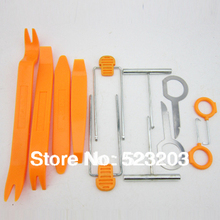 12pcs Car Door radio Interior Plastic Trim Panel Dashboard Installation Removal Pry Stereo Refit Tool Kit(China)