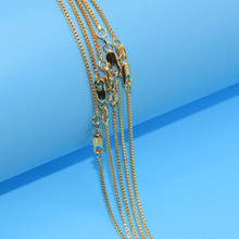 5pcs/lot Wholesale  Gold Filled Necklace Fashion Jewelry Box Link Chain 2mm Necklace 16-30 Inches Pendant Chain